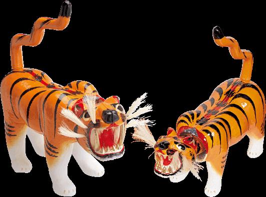 写真:張り子の虎