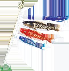 写真:鯉のぼり